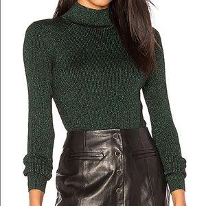 Diane von Furstenberg Tess Metallic Ribbed Sweater
